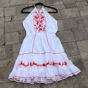 Letarte**Summer Dress w/ Embroidered Flowers**Med.